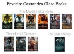 """""""Favorite Cassandra Clare books/series"""" by hayleighjackson ❤ liked on Polyvore featuring art"""
