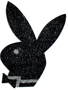Playboy Bunny Polystyrene Glitter Cutout Black - Party Supplies, Ideas, Accessories, Decorations, Games - PartyNet