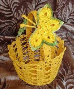 Canasta,crochet. | Cestos-cajas-cubre frascos,crochet. | Pinterest ...