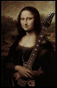 Mona Lisa art with guitar, Incredible Photo Manipulation - 45 Amazing Examples For Your Inspiration - Geeks Zine