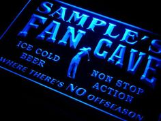 Golf Fan Cave Name Personalized Custom LED Sign