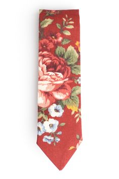 This tie is a response to our best selling Floral Bleu, this is the same pattern in a darker red, It is made of a red cotton canvas with a large floral print. Each tie is slightly different because of the large print.  http://qpcollections.com/collections/neck-ties/products/floral-rouge #qpcollections #floraltie
