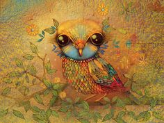 Colorful Owl Painting.