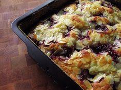 Plaatcake met cranberries