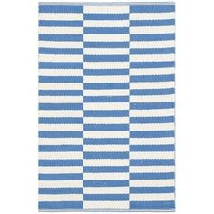 Shop for Safavieh Hand-Woven Montauk Ivory/ Blue Cotton Rug (2'3 x 3'9). Free Shipping on orders over $45 at Overstock.com - Your Online Home Decor Outlet Store! Get 5% in rewards with Club O!