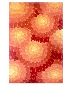 Orange Blossom Rug on clearance today at Zulily.  Why can't I have that gorgeous color in my home somewhere?  Sunroom office, maybe?