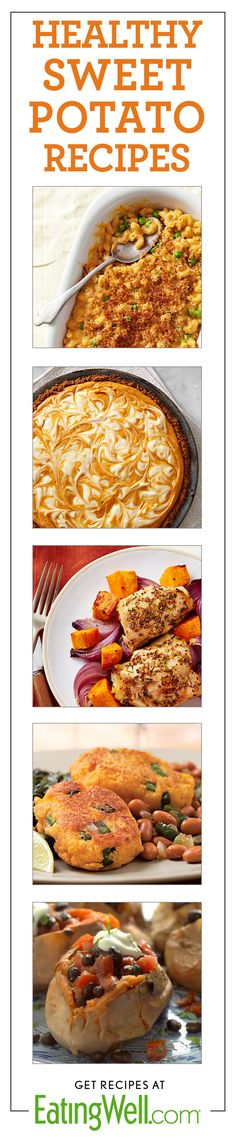 Sweet Potato Mac & Cheese, Sweet Potato Pie, Roast Chicken with Sweet Potatoes, Black Bean Stuffed Sweet Potatoes and more!
