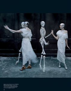 "Agyness Deyn in ""Spooky"" for Love Magazine, Spring/Summer, 2015. Photography: Tim Walker. Styling: Katie Grand"
