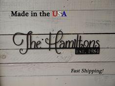Family Last Name Sign, Establised Date, Wedding/Anniversery Gift, Last Name #Handmade #ArtsCraftsMissionStyle