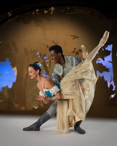 Joburg Ballet's Shannon Glover as Snow White and Ruan Galdino as the Royal Huntsman - Photo by Lauge Sorensen. Snow White, Dancer, Ballet, Statue, Dancers, Ballet Dance, Sleeping Beauty, Sculpture, Sculptures