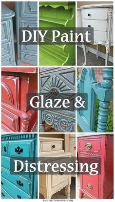 How Glaze Accents Painted Furniture DIY Paint, Glaze & Distressing - Facelift Furniture Refurbished Furniture, Repurposed Furniture, Rustic Furniture, Vintage Furniture, Cheap Furniture, Discount Furniture, Furniture Nyc, Furniture Online, Furniture Dolly