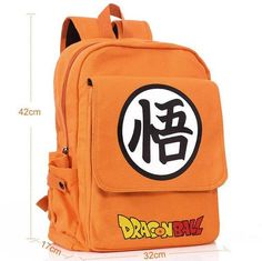 ANIME Dragon Ball Z Shoulder bag Dragon Ball thick canvas trend students computer backpack Son Goku Orange Canvas bag 020501 Dragon Ball Z, 7th Dragon, Dbz, Canvas Backpack, Backpack Bags, My Academia Hero, Mochila Jeans, Otaku, Opals