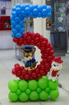 Paw Patrol Party, Paw Patrol Birthday, Number Balloons, Letter Balloons, Balloon Columns, Balloon Arch, Birthday Balloon Decorations, Baby Shower Decorations, Paw Patrol Balloons