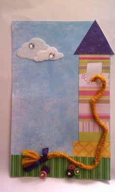 Handmade Rapunzel Birthday Invitation  Inspired by MonkeyCookies, $5.50