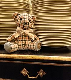 The Langham Teddy helps to plate up at Eight Restaurant at The Langham, Auckland  #Teddybear #Bear #Gift