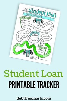 Track paying off your student loan debt with this FREE printable tracker. Make paying off debt fun and motivating with visual payoff progress. Debt Tracker, Free Charts, Cash Envelope System, Budget Binder, Student Loan Debt, Get Out Of Debt, Debt Payoff, Debt Free, How To Stay Motivated