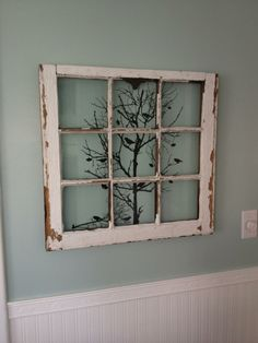 Very clever way to use wall decals and #recycled windows.  i like this!