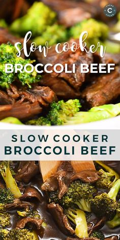 Super easy Slow Cooker Broccoli Beef! The sauce is AMAZING – so much better tasting and healthier than takeout. | lecremedelacrumb.com #slowcooker #amazingdinner #comfortfood #easy #healthy #betterthantakeout #broccolibeef