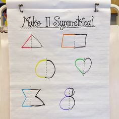 Fun With Firsties: symmetry anchor chart