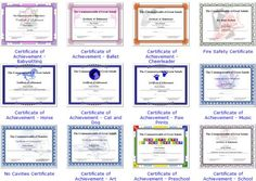 Free Award Templates Award Certificate Maker  Personalize And Print Certificates Online .