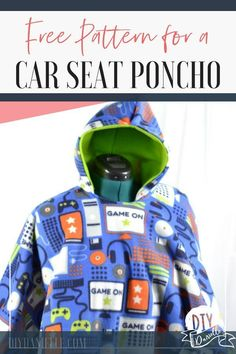 Sewing Gifts For Kids Get the free pattern for a car seat poncho. These easy to sew coats are easy for getting kids in and out of car seats on errands and they're safe- unlike parkas. Car Seat Coat, Car Seat Poncho, Car Seats, Sewing Projects For Beginners, Sewing Tutorials, Sewing Diy, Sewing Ideas, Diy Projects, Sewing Hacks