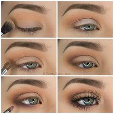 50 perfekte Make-up-Tutorials für grüne Augen 50 makeup tutorials for green eyes -Simple Pretty Eye Shadow Tutorial – amazing green eye makeup tutorials for work for prom for weddings for every day easy step by step diy guide for beautiful natural look- t Eyeshadow Tutorial For Beginners, Makeup Tutorial Step By Step, Makeup For Beginners, Easy Eyeshadow Tutorial, Brown Eye Makeup Tutorial, Beginner Makeup Tutorial, Simple Makeup Tutorial, Natural Eyeshadow Tutorials, Make Up Ideas Step By Step