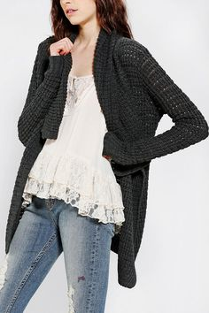 Staring At Stars Cozy Shawl-Collar Cardigan - Urban Outfitters