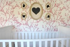 Silhouette Frame Collage in Baby Girl Nursery - #ProjectNursery