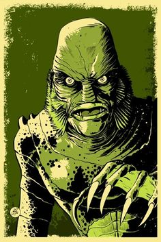 This listing is for an 11x17 Creature from the Black Lagoon poster illustrated by Mark Welser.