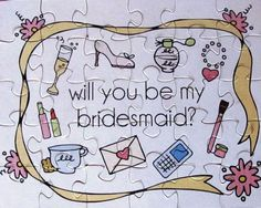 Will You Be In My Wedding Puzzle. Ask your Bridesmaid, Maid of Honor, Flower Girl and Junior Bridesmaids. Asking Bridesmaids, Bridesmaids And Groomsmen, Will You Be My Bridesmaid, Junior Bridesmaids, Wedding Roles, Our Wedding, Dream Wedding, Wedding Ideas, Wedding Decor