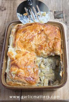 Parsnip, Leek and Mushroom Pie with a lovely hint of whole grain mustard and a puff pastry hat is an easy creamy, vegetarian crowd pleaser - 1 hour recipe.