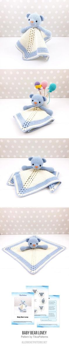 Baby Bear Lovey crochet pattern