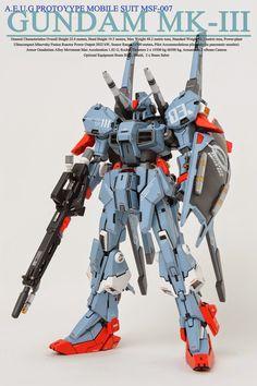 RE/100 MSF-007 Gundam Mk-III - Customized Build
