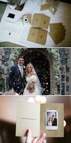 Cute DIY thank you card idea with photos of the big day