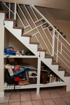 staircase storage panels, Clever Stairs Storage Ideas, http://hative.com/clever-stairs-storage-ideas/,