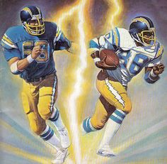 San Diego Chargers cover art for Pro! magazine