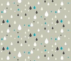 Retro drops - greys and blue fabric by ravynka for sale on Spoonflower - custom fabric, wallpaper and wall decals