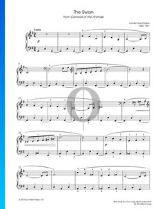 The Carnival Of The Animals: The Swan - Piano Sheet Music (Camille Saint-Saëns) Carnival Of The Animals, Piano Sheet Music, Playlists, Trumpet, Special Occasion, Inspirational, Songs, Traditional, Holiday