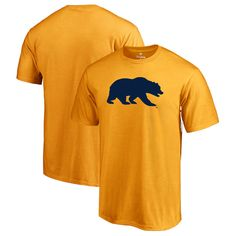 Cal Bears Fanatics Branded Primary Logo T-Shirt - Yellow