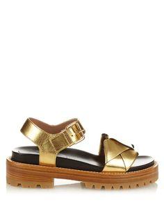 Marni Fussbett metallic-leather sandals