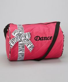 Look what I found on #zulily! Hot Pink Zebra Ribbon 'Dance' Duffel by Wenchoice #zulilyfinds