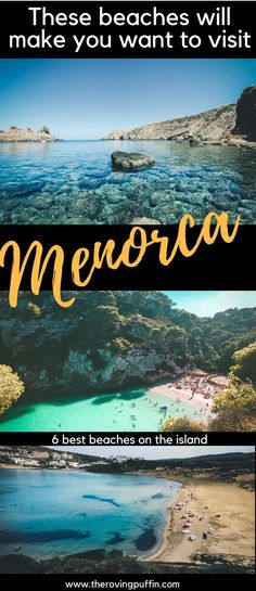 These beaches will make you want to visit Menorca - 6 best beaches on the island - Travel Travel Destinations Beach, Europe Travel Tips, Spain Travel, Places To Travel, Backpacking Europe, Beach Travel, European Travel, Ibiza, Best Beaches To Visit