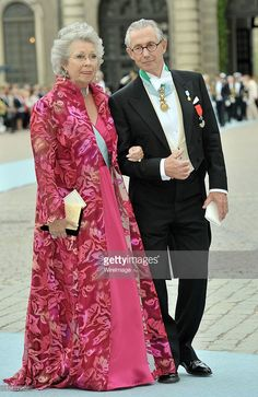 Princess Christina of Sweden and husband General Tord Magnuson attends the wedding of Crown Princess Victoria of Sweden and Daniel Westling on June 19, 2010 in Stockholm, Sweden.  (Photo by Dominique Charriau/WireImage)