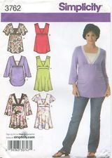 Simplicity 3762 Maternity Knit & Woven Tops Sewing pattern