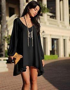 Givenchy&vestido pescoço casuais cor sólida v é uma mulher