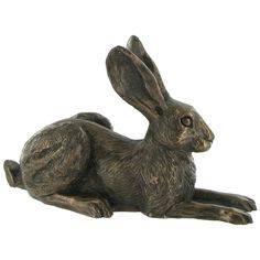 Violet Sitting Hare Cold Cast Bronze Sculpture by Harriet Glen