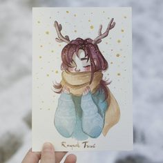Happy Holidays to everyone! I've had social media pretty abandoned lately because of work, but I just wanted to wish you happy holidays! Thank you very much for all the support through all the year ❤❤❤ Kpop Drawings, Cute Drawings, Person Drawing, Arte Sketchbook, Christmas Drawing, Sketch Painting, Beautiful Drawings, Cartoon Art, Cute Art