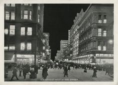 cincylibrary:  Scenes of downtown from Cincinnati at Night, published in 1915.