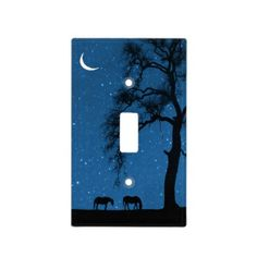 Shop Horse Moon Stars Light Switch Cover created by horsedecor. Light Switch Art, Light Switch Plates, Hippie Painting, Diy Painting, Switch Plate Covers, Light Switch Covers, Unique Night Lights, Galaxy Lights, Horse Wall Art