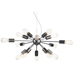 "Possini Euro Diamet 27 1/2""W Chrome-Glass 9 Light Pendant - #9N423 | www.lampsplus.com"